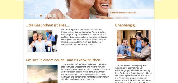 Webauftritt der Con-Vita GmbH